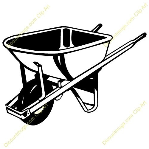 Computer in wheelbarrow clipart. Panda free images royalty