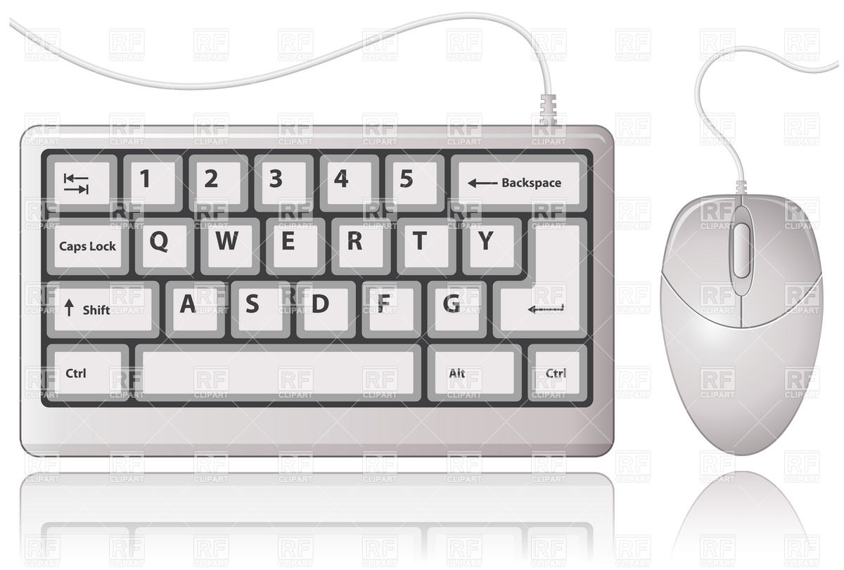Computer keyboard and mouse clipart black and white library Keyboard And Mouse Clipart - Clipart Kid black and white library