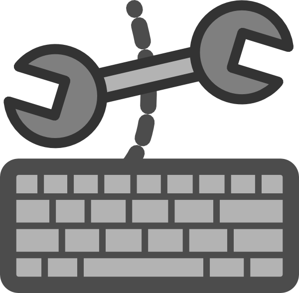 Device settings clip art. Computer keyboard clipart