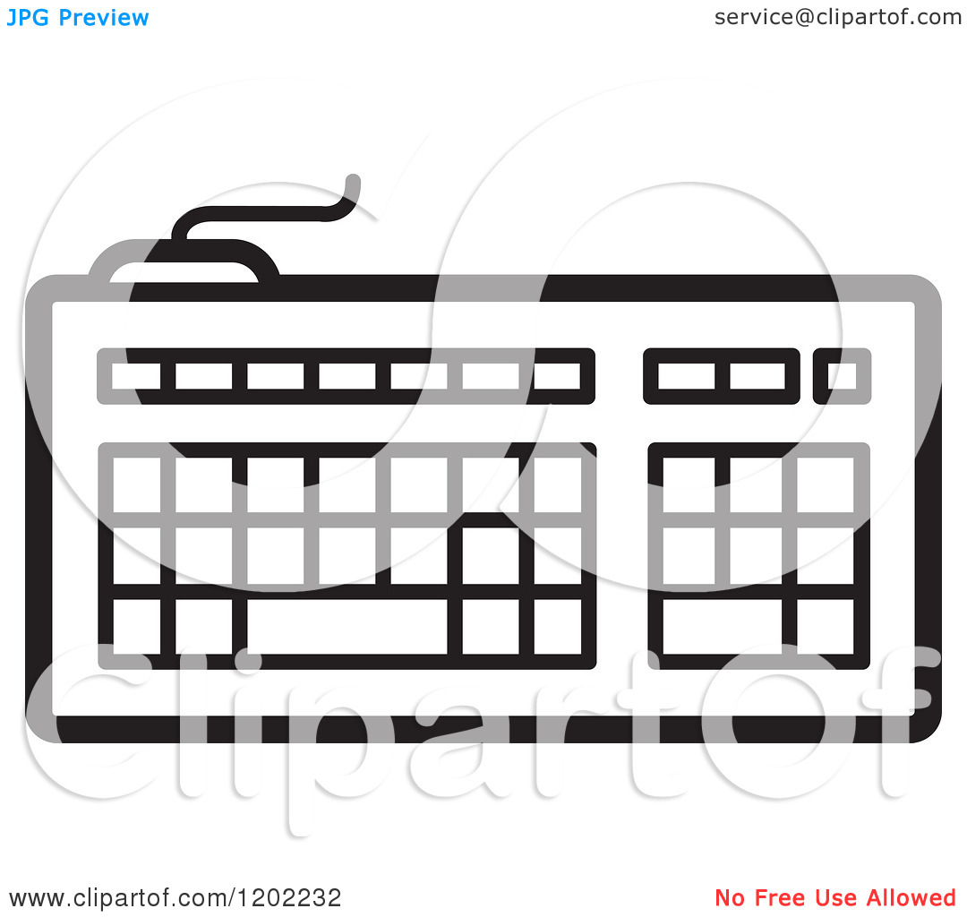 Computer keyboard clipart black and white clipart library library Piano Keyboard Clipart Black And White | Clipart Panda - Free ... clipart library library