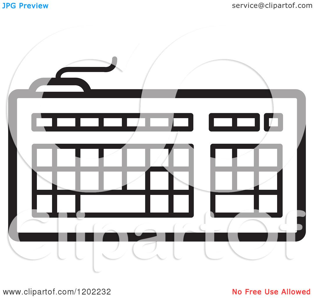 Computer keyboard clipart black and white. Piano panda free computerscreenclipartblackandwhite