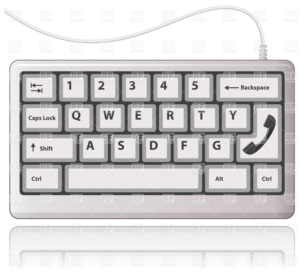 Clip art of. Computer keyboard clipart black and white