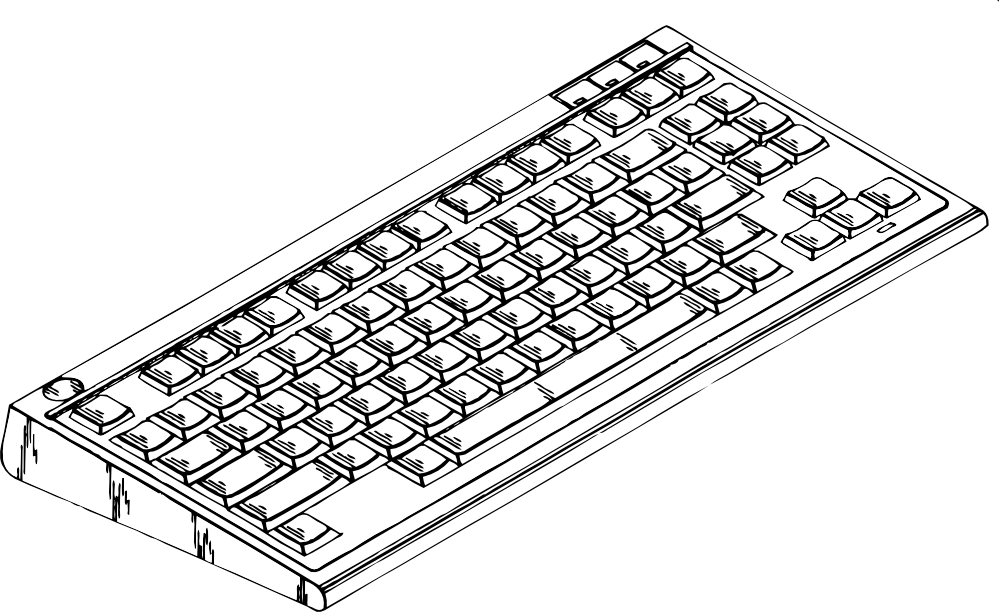 Computer keyboard clipart black and white clip transparent download clipartist.net » Clip Art » computer keyboard 2 black white line art SVG clip transparent download