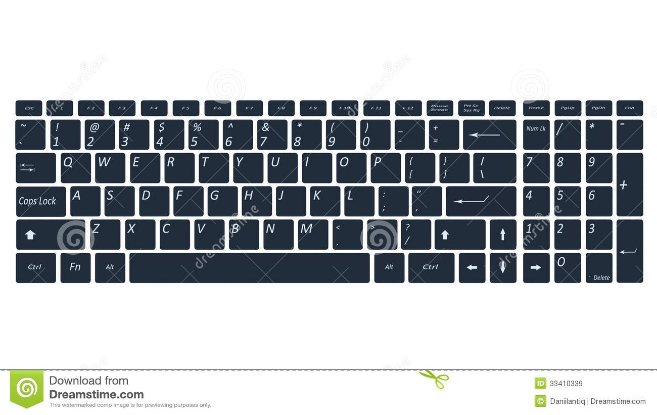 Computer keyboard clipart black and white picture free library Computer Keyboard Black And White Clipart - Clipart Kid picture free library