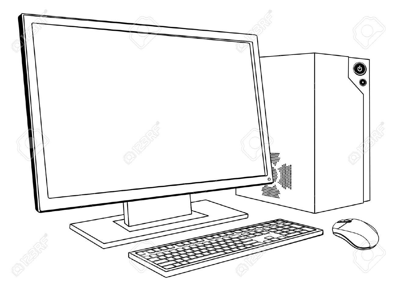 Computer keyboard clipart black and white clip art royalty free stock Computer black and white clipart - ClipartFest clip art royalty free stock