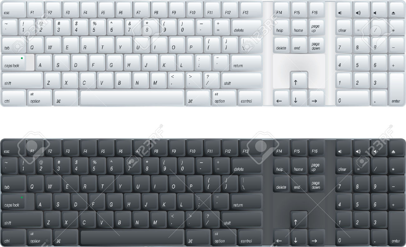 Computer keyboard clipart black and white. Whit e clipartfest vector