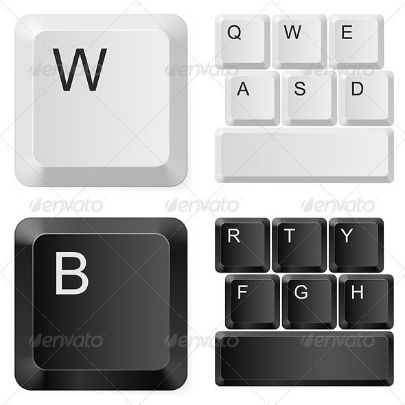 Computer keyboard clipart eps clip black and white library 10 Best images about Vectors on Pinterest | Vector vector, Tag art ... clip black and white library