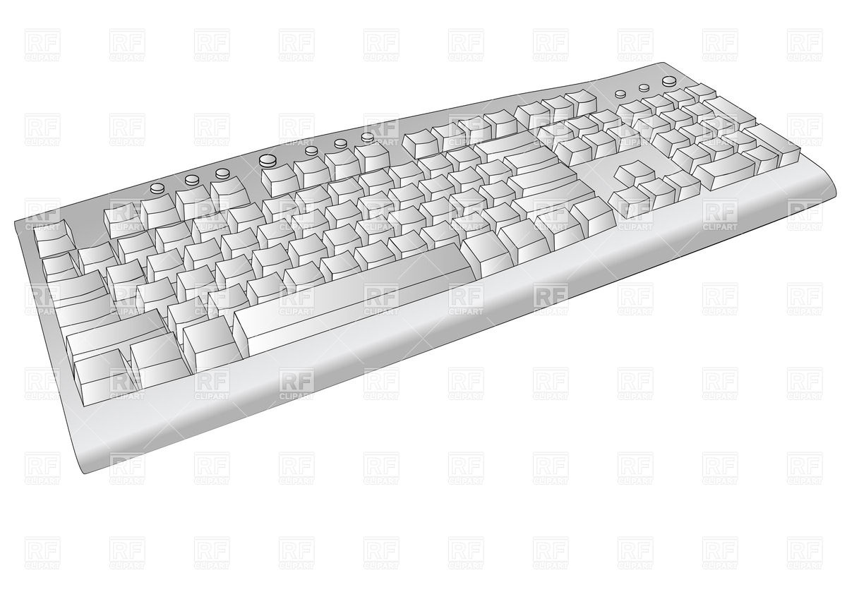 Computer keyboard clipart eps graphic transparent library Computer keyboard clipart eps - ClipartFest graphic transparent library