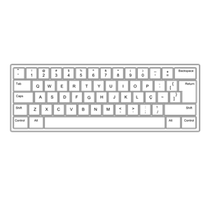 Computer keyboard clipart eps vector freeuse Keyboard ABNT2 Pt Br clipart, cliparts of Keyboard ABNT2 Pt Br ... vector freeuse