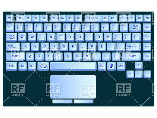 Computer keyboard clipart eps jpg library Laptop blue keyboard Vector Image #11284 – RFclipart jpg library