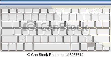 Computer keyboard clipart eps png transparent library Vector Clip Art of Modern aluminum computer keyboard isolated on ... png transparent library