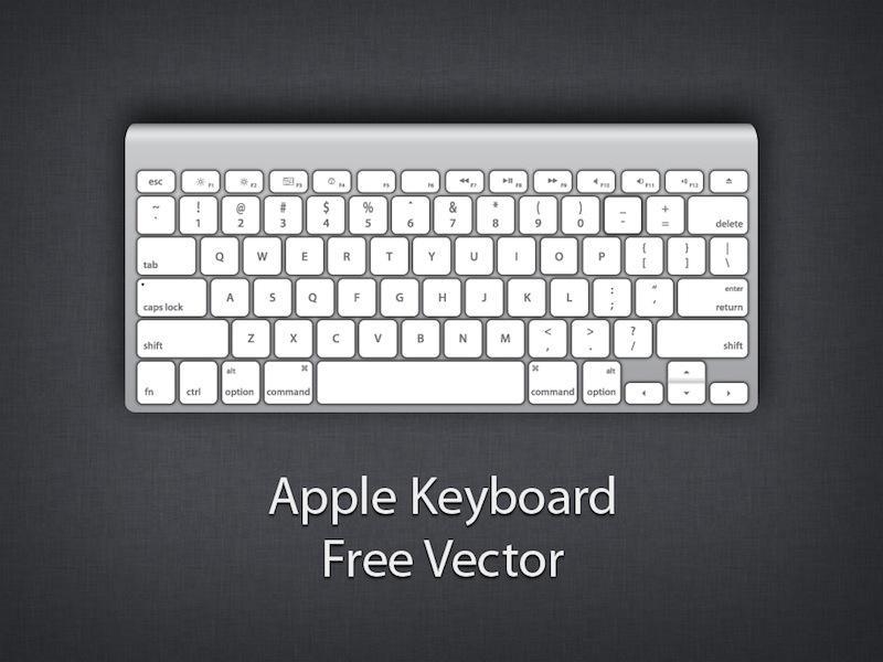Computer keyboard clipart eps. Mac apple free vector