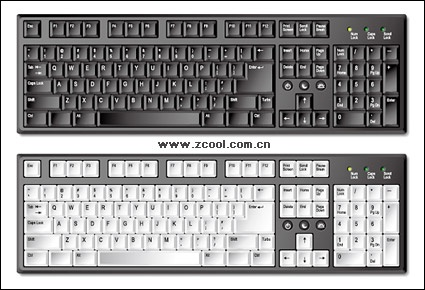 Computer keyboard clipart eps. Clipartfest vector