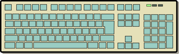 Computer keyboard clipart free graphic freeuse Free to Use & Public Domain Keyboards Clip Art graphic freeuse