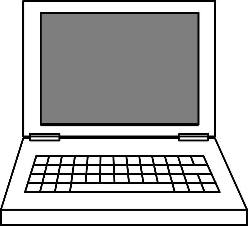 Computer keyboard clipart vector png free library Clipart - Laptop png free library