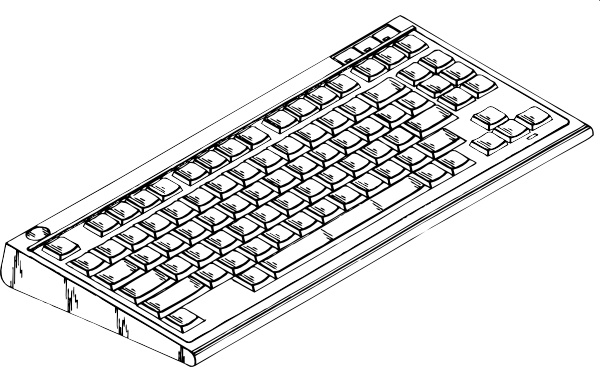 Computer keyboard clipart vector clip library library Computer Keyboard clip art Free vector in Open office drawing svg ... clip library library