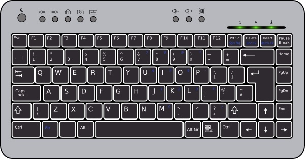 Computer keyboard clipart vector freeuse Computer keyboard clip art free vector download (210,769 Free ... freeuse