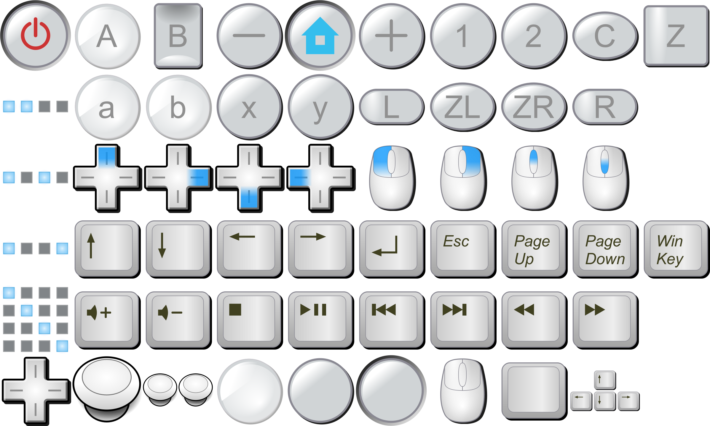 Computer keyboard keys clipart clip royalty free stock Clipart - Wii buttons, mouse buttons, keyboard keys clip royalty free stock