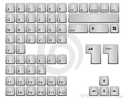 Computer keyboard keys clipart clip art freeuse download Keyboard keys clipart - ClipartFest clip art freeuse download