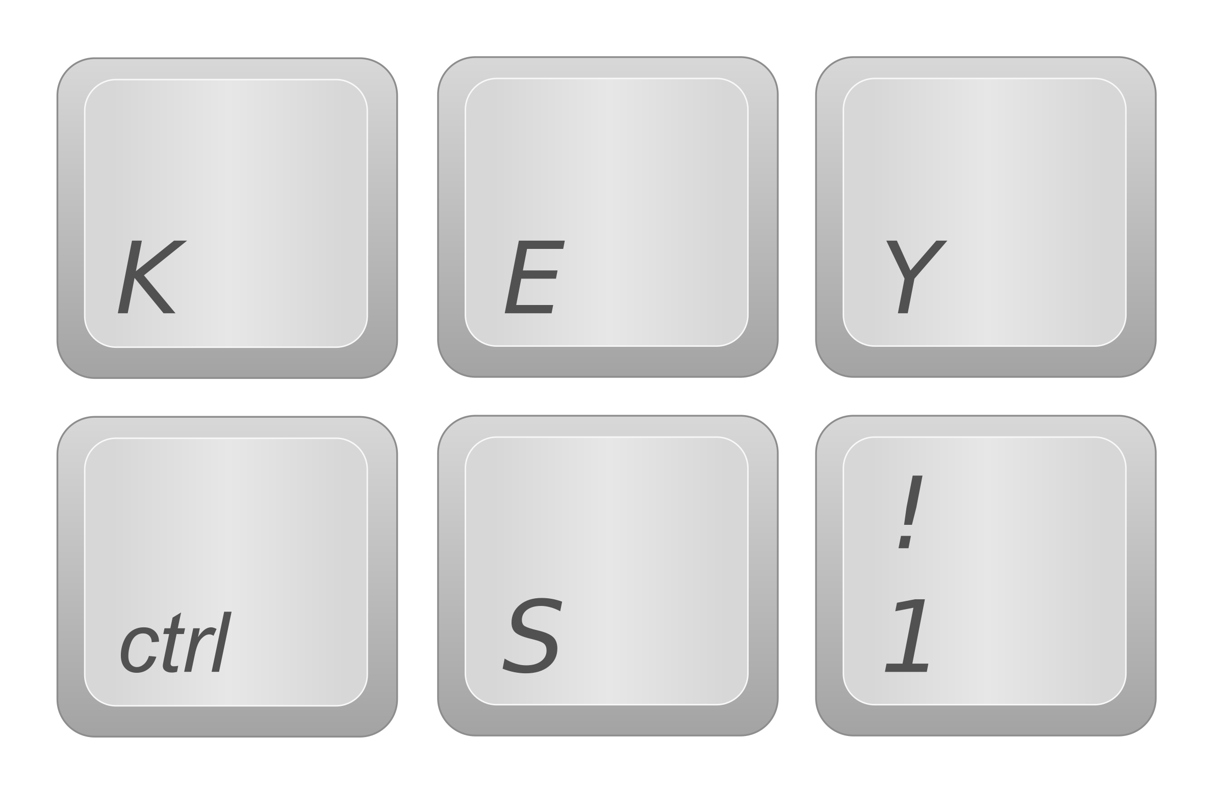 Computer keyboard keys clipart clipart black and white stock Clipart - Keyboard Keys clipart black and white stock