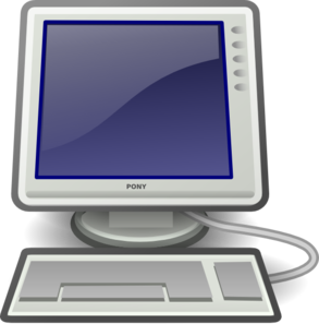 Computer monitor and keyboard clipart. Screen clip art at