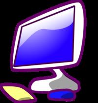 Computer monitor and keyboard clipart. Clip art panda free