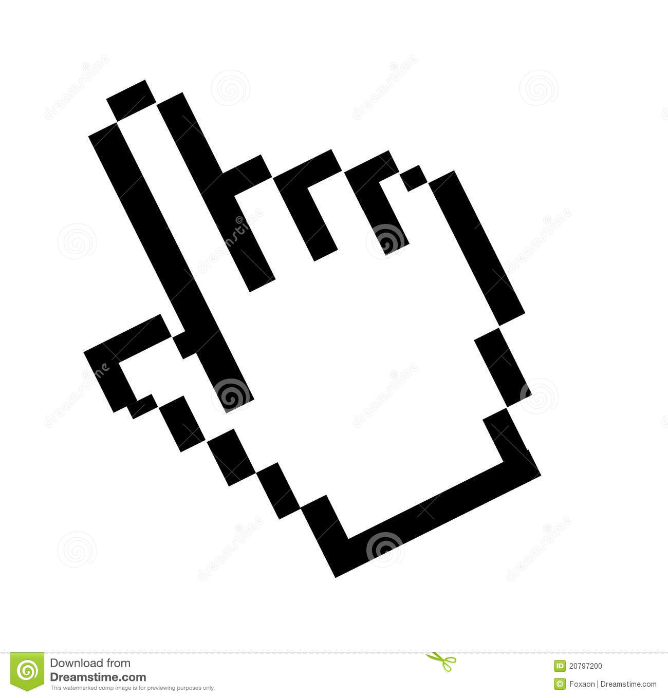 Computer mouse pointer clipart. Royalty free stock photo