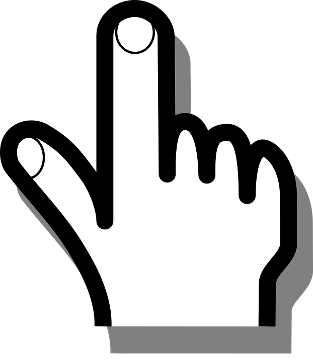 Free vector graphic hand. Computer mouse pointer clipart