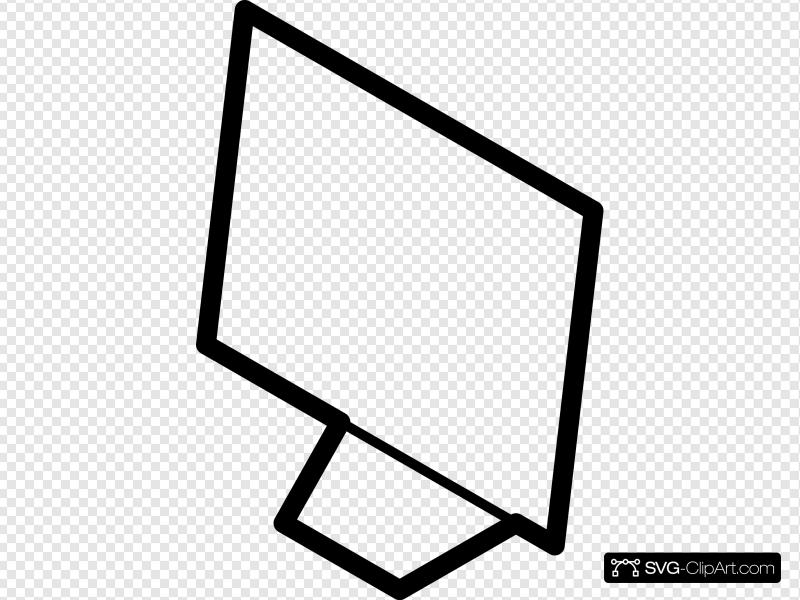 Computer outline clipart clip art freeuse library Computer Screen Outline Clip art, Icon and SVG - SVG Clipart clip art freeuse library