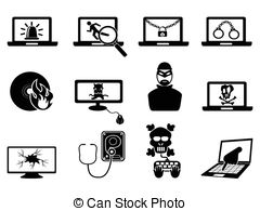 Computer security clipart image stock Cyber Vector Clipart Royalty Free. 17,722 Cyber clip art vector ... image stock