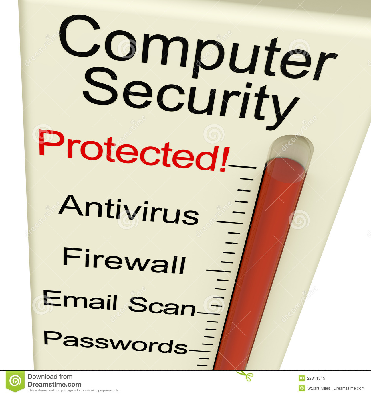 Computer security clipart svg black and white Computer Security Protected Meter Royalty Free Stock Photo - Image ... svg black and white