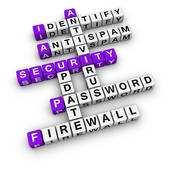 Computer security clipart graphic black and white Stock Illustrations of Computer Security Puzzle Shows Firewall And ... graphic black and white