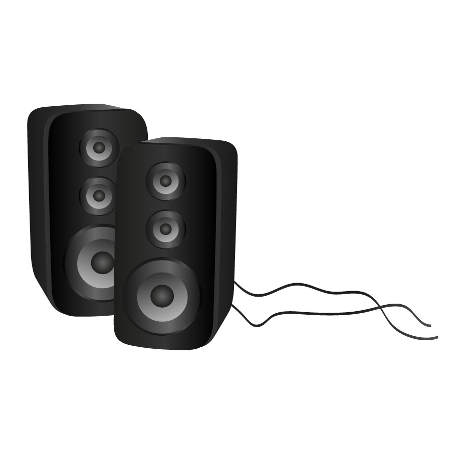 White speakers clipart black and white Computer speaker clipart 4 » Clipart Station black and white