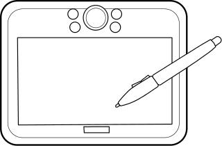 Computer tablet clipart clip art black and white Free Computer Tablet Clipart - Clip Art Image 5 of 7 clip art black and white
