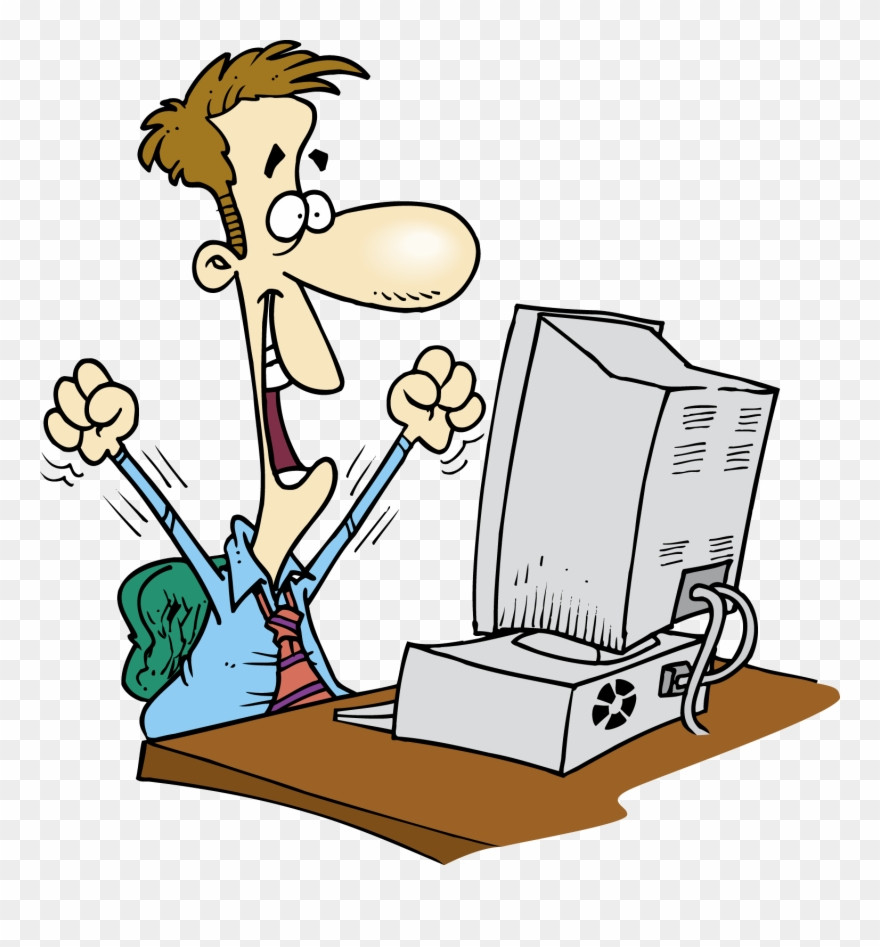 Computer user clipart clip black and white Employee Clipart Computer - Happy Computer User - Png Download ... clip black and white
