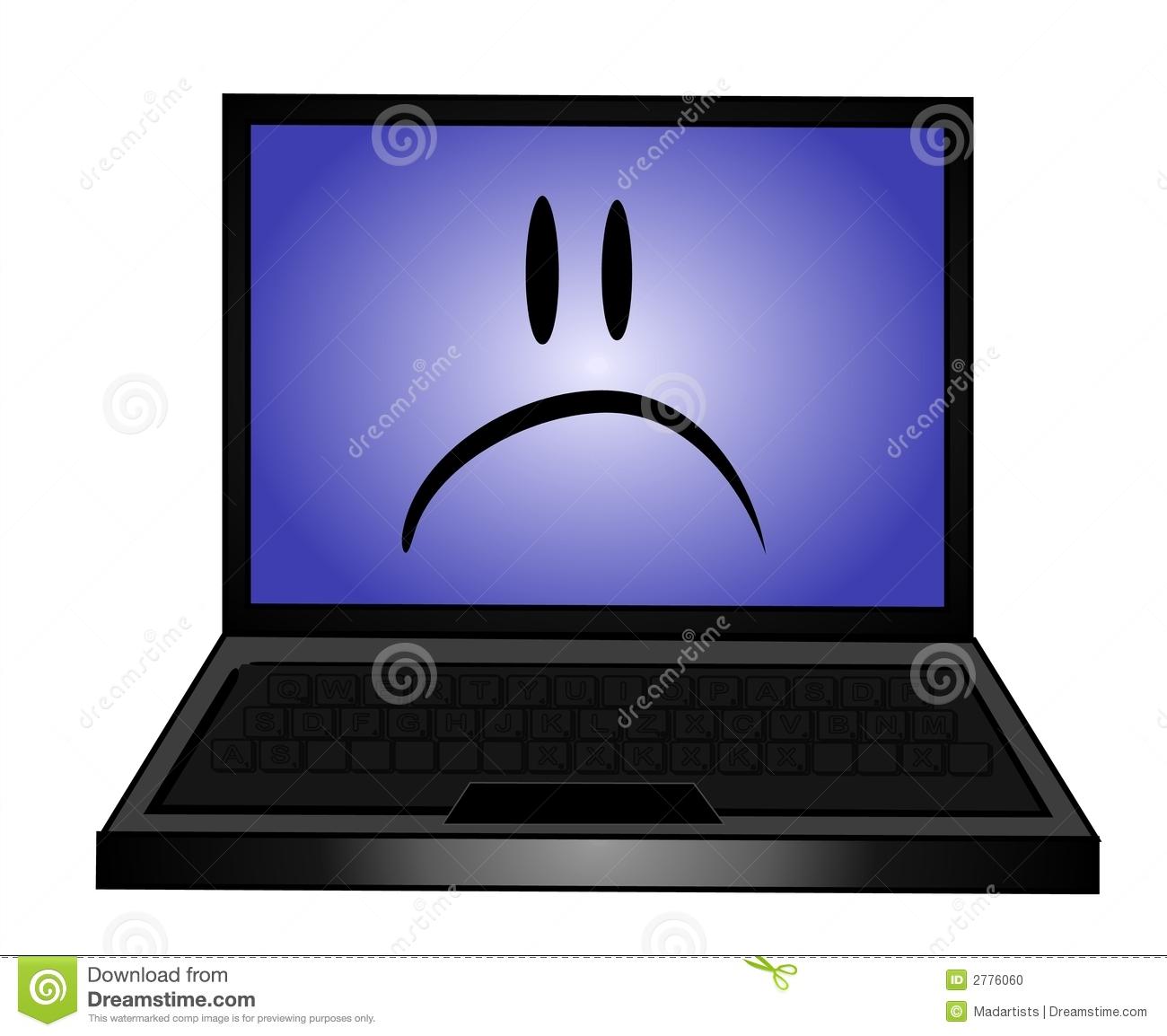 Computer vs laptop clipart jpg freeuse Sad Laptop Computer Clip Art Stock Photo - Image: 2776060 jpg freeuse