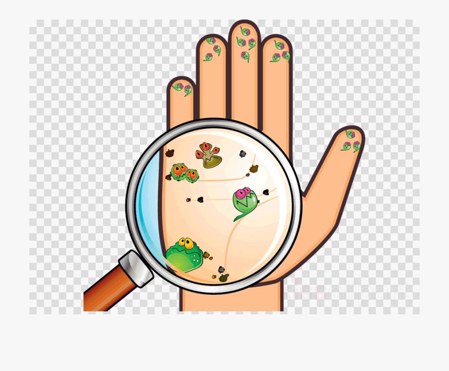 Con clipart clip art freeuse Wash Hands Clipart Hand Hygiene - Mano Con Bacterias Dibujo ... clip art freeuse