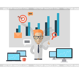 Concept training clipart svg royalty free library Business Training Concept - color vector clipart svg royalty free library