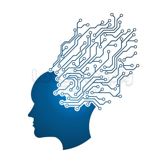 Concept training clipart clipart freeuse stock Man Head circuit mind logo. clipart. Concept of technology, mind ... clipart freeuse stock