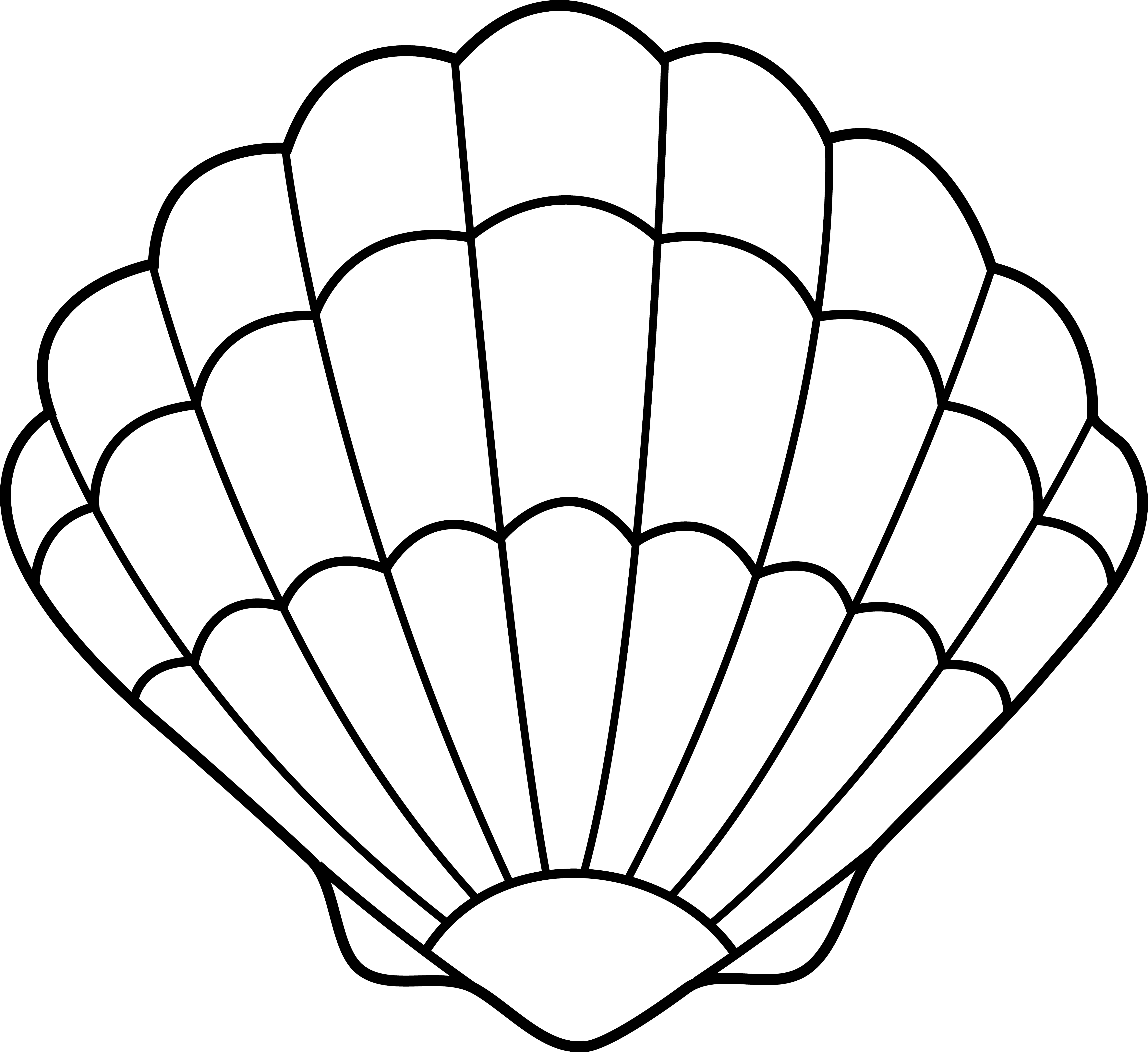 Conch shell clipart free png black and white download Shell Outline   Free download best Shell Outline on ClipArtMag.com png black and white download
