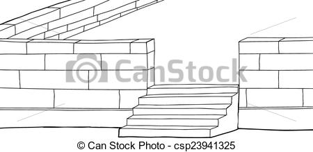 Concrete block clipart image free library Vector Illustration of Outline Concrete Block Patio - Outline ... image free library