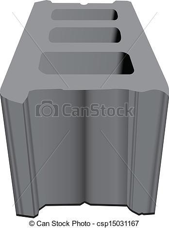Concrete block clipart jpg transparent stock Clip Art Vector of Concrete building block - Standard concrete ... jpg transparent stock
