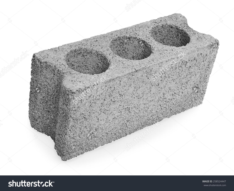 Concrete block clipart clip Concrete Hollow Block Construction On White Stock Photo 258524447 ... clip