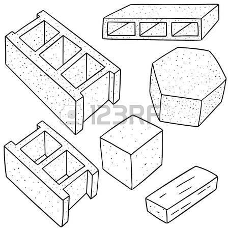 Concrete block clipart graphic black and white library 7,108 Concrete Block Stock Vector Illustration And Royalty Free ... graphic black and white library