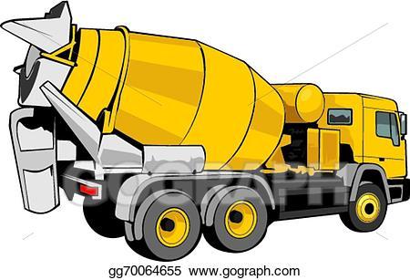 Concrete truck clipart banner Vector Stock - Mixer for concrete. Clipart Illustration gg70064655 ... banner