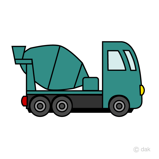 Concrete truck clipart picture library stock Cute Concrete Mixer Truck Clipart Free Picture|Illustoon picture library stock