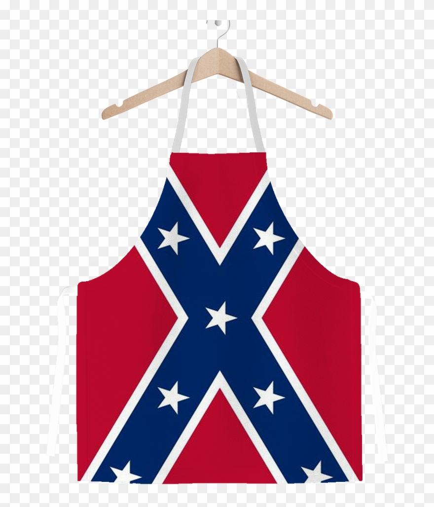 Confederate flag on pole clipart graphic library download Confederate Flag Adult Apron Clipart (#3086382) - PinClipart graphic library download