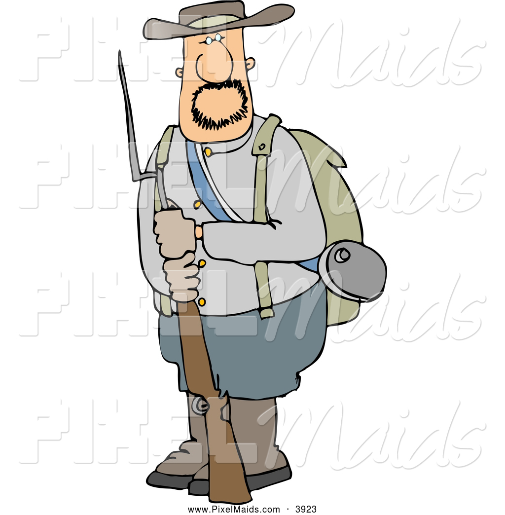 Confederate soldier clipart clip art freeuse library Clipart of a White Confederate Army Soldier Holding a Rifle ... clip art freeuse library