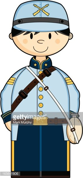 Confederate soldier clipart transparent download Cute American Confederate Soldier premium clipart ... transparent download