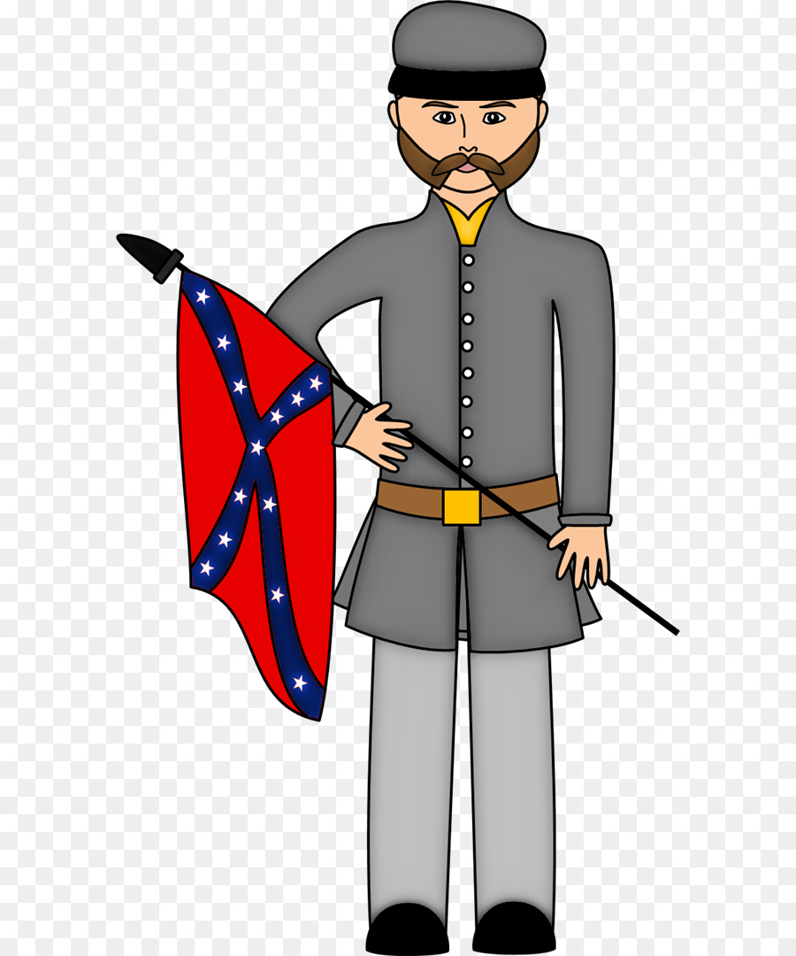 Confederate soldier clipart clip art free download Soldier Silhouette png download - 638*1080 - Free ... clip art free download